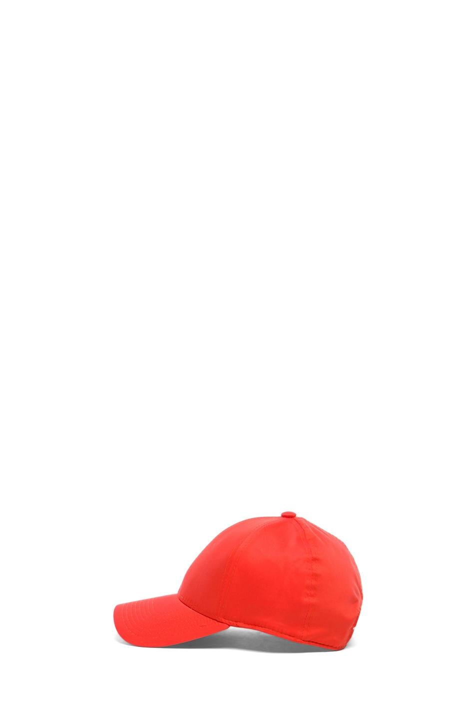 Image 3 of Acne Studios Satin Camp Hat in Orange