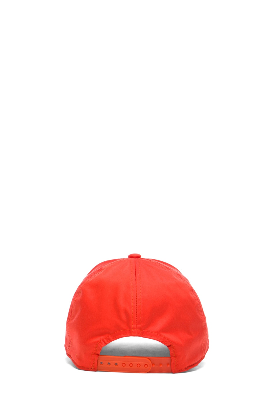 Image 4 of Acne Studios Satin Camp Hat in Orange