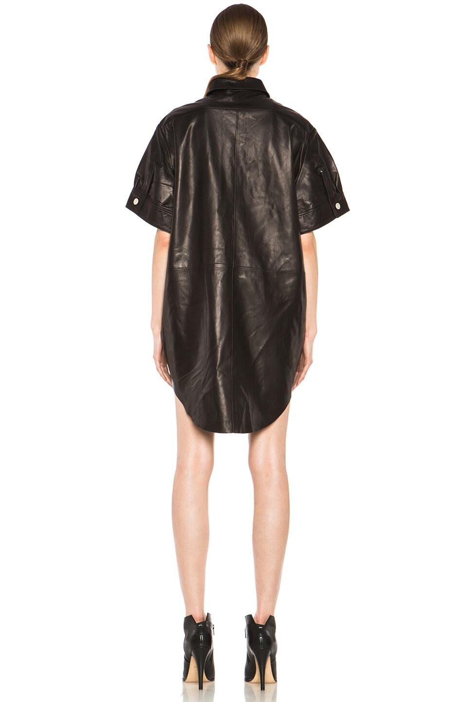 Image 4 of Acne Studios Marla Lambskin Dress in Black Noir