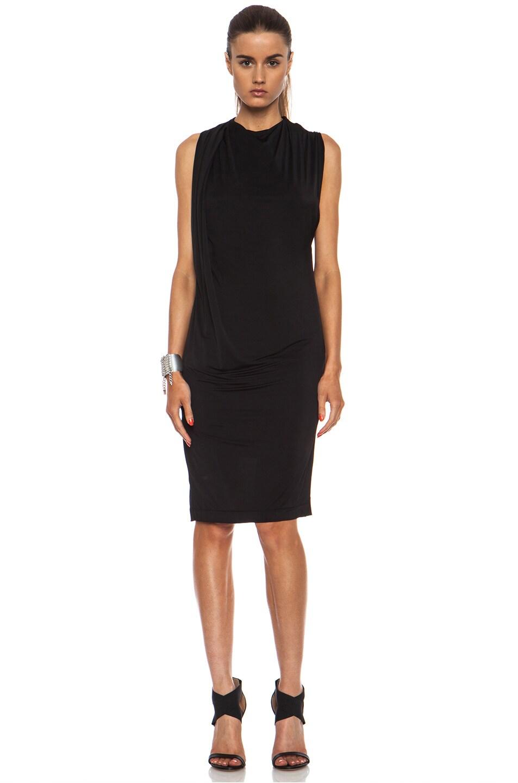 Image 2 of Acne Studios Heat Viscose-Blend Dress in Black