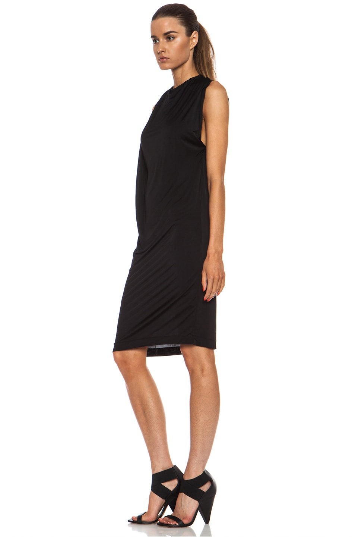 Image 3 of Acne Studios Heat Viscose-Blend Dress in Black