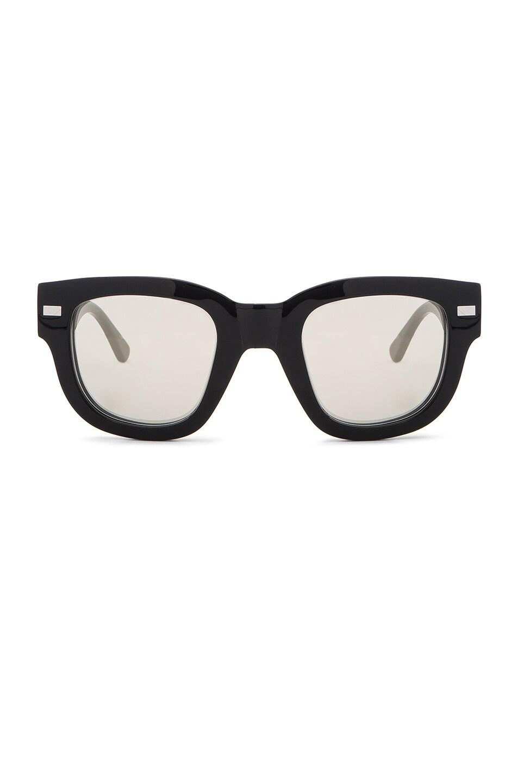Image 1 of Acne Studios Frame Metal Sunglasses in Black & Silver