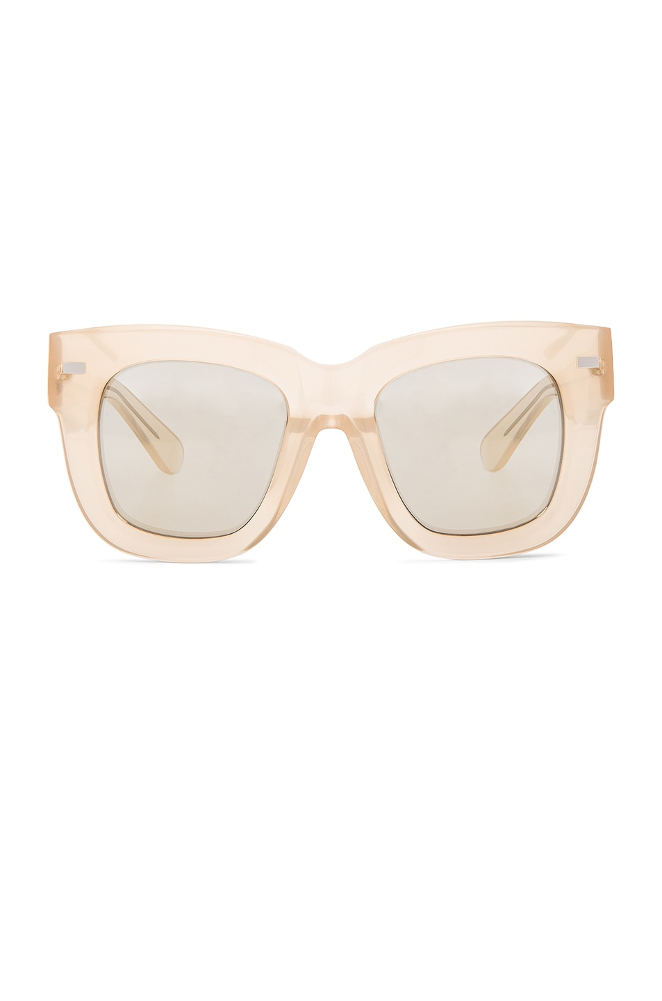 Image 1 of Acne Studios Library Metal Sunglasses in Opal Pink & Silver