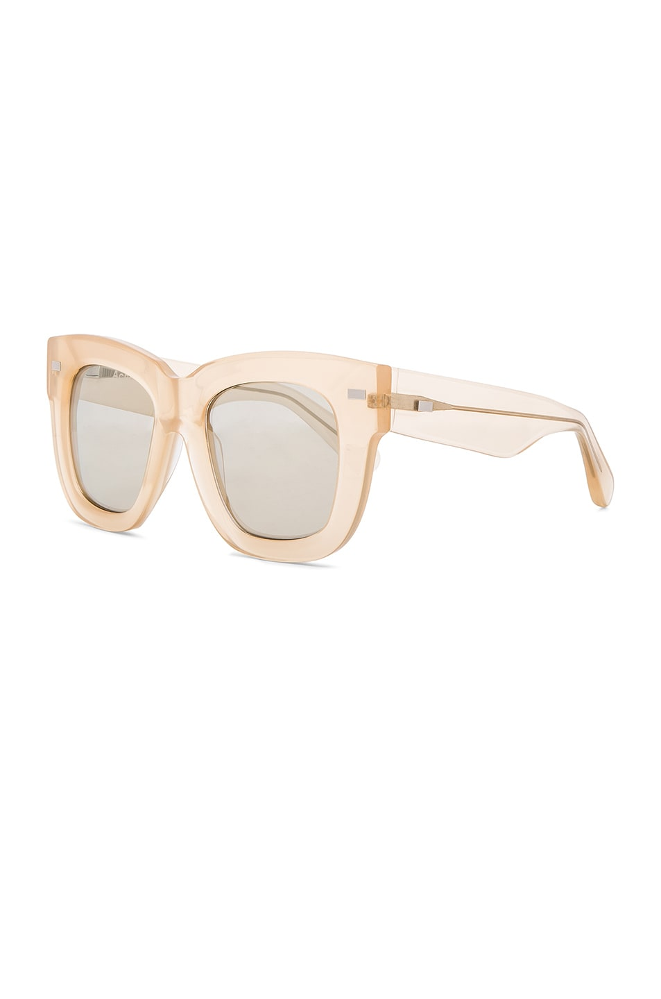 Image 2 of Acne Studios Library Metal Sunglasses in Opal Pink & Silver