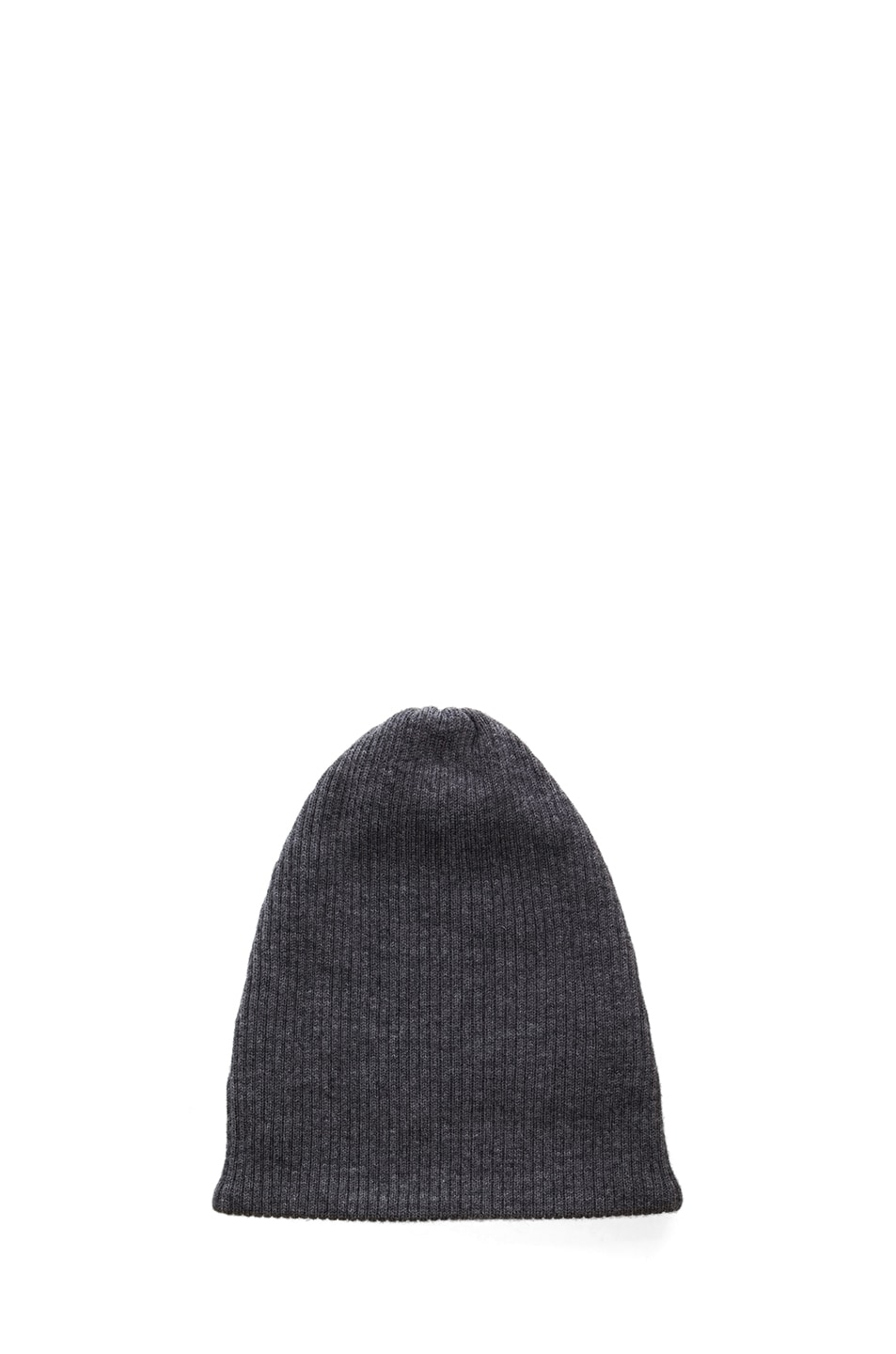Image 1 of Acne Studios Spring Merino Beanie in Dark Grey Melange
