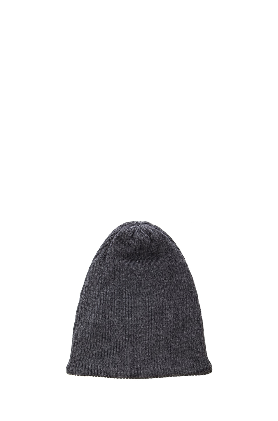 Image 2 of Acne Studios Spring Merino Beanie in Dark Grey Melange