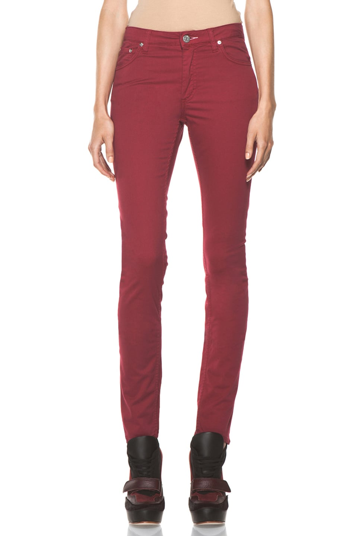 Image 1 of Acne Studios Flex Satin Pant in Red