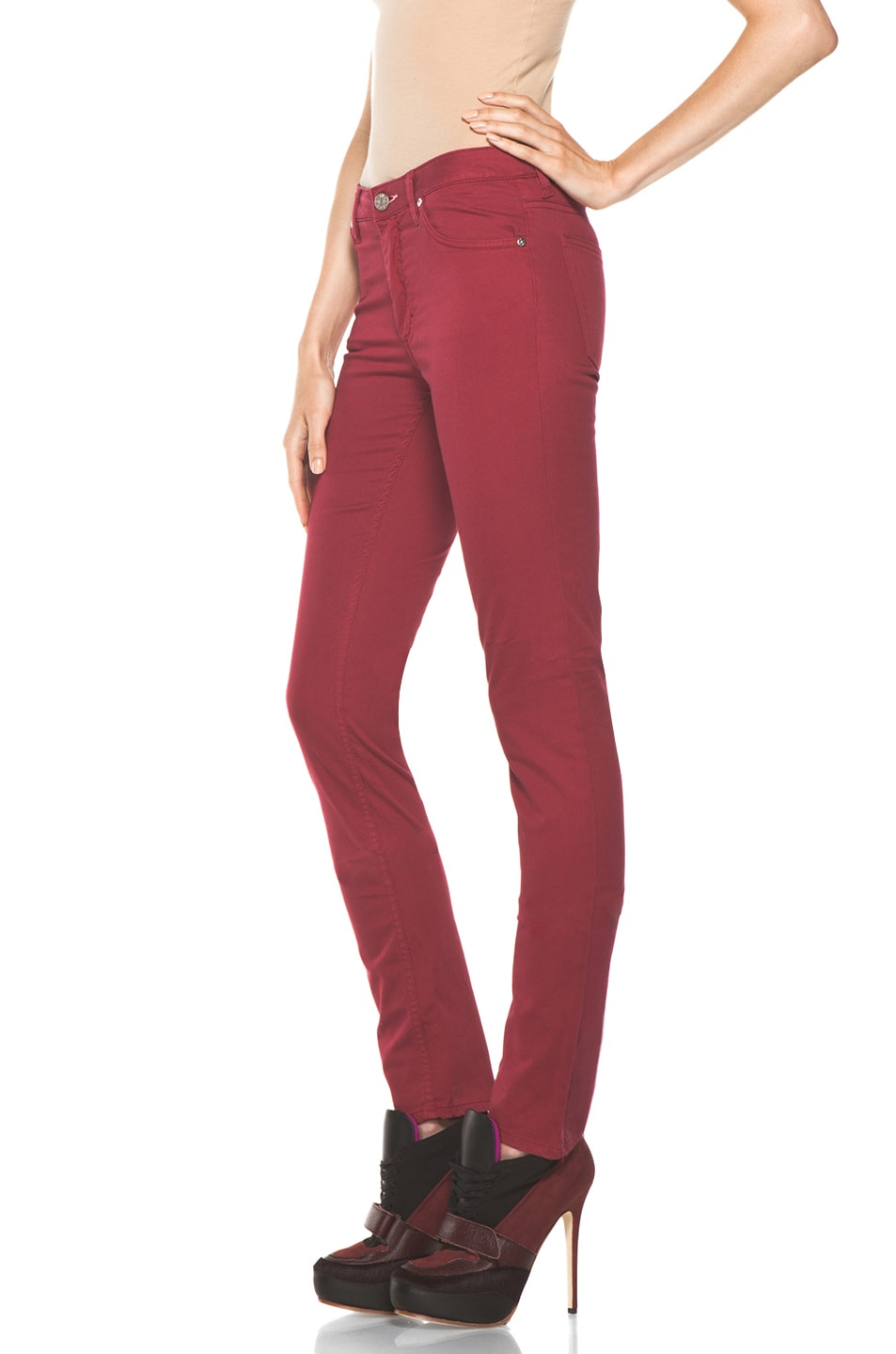 Image 2 of Acne Studios Flex Satin Pant in Red