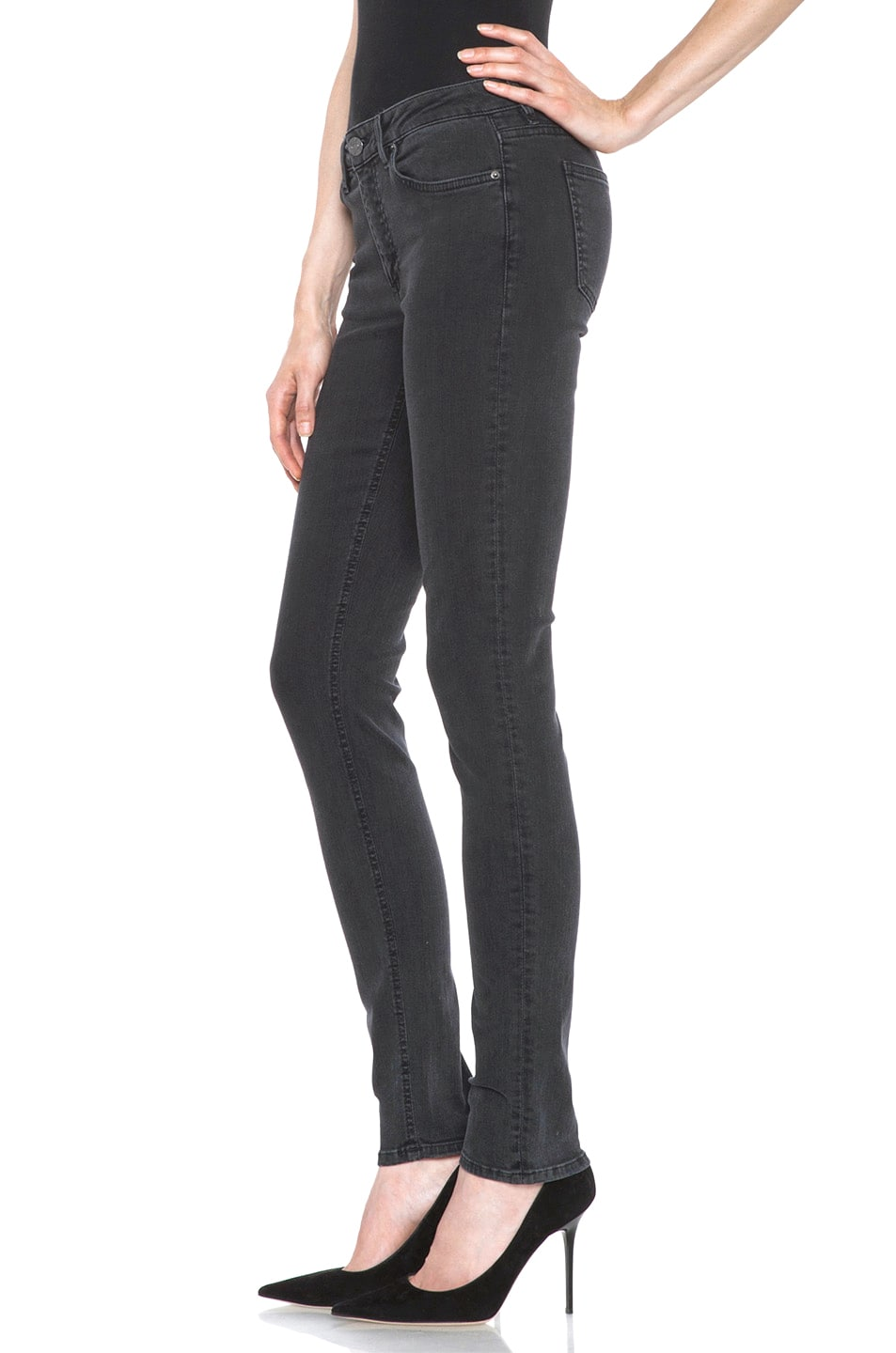 Image 2 of Acne Studios Skin 5 Jean in Used Black