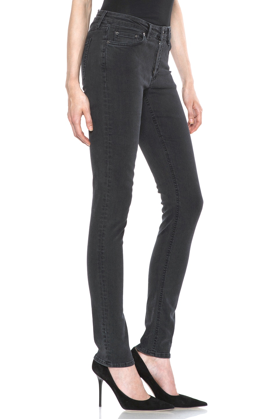 Image 3 of Acne Studios Skin 5 Jean in Used Black