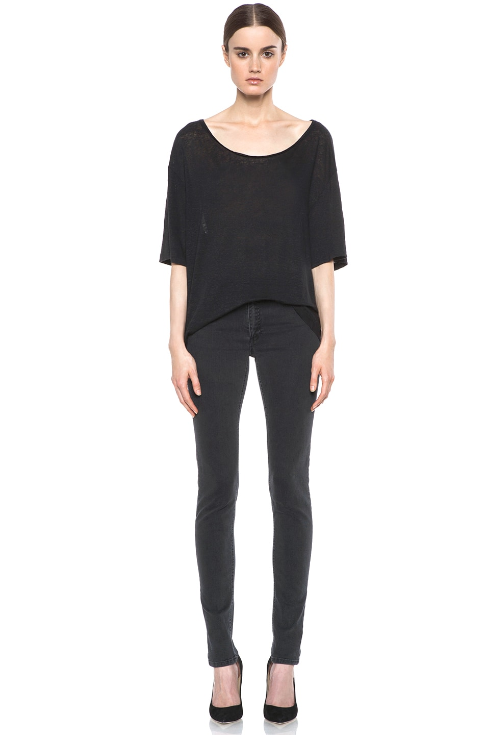 Image 5 of Acne Studios Skin 5 Jean in Used Black