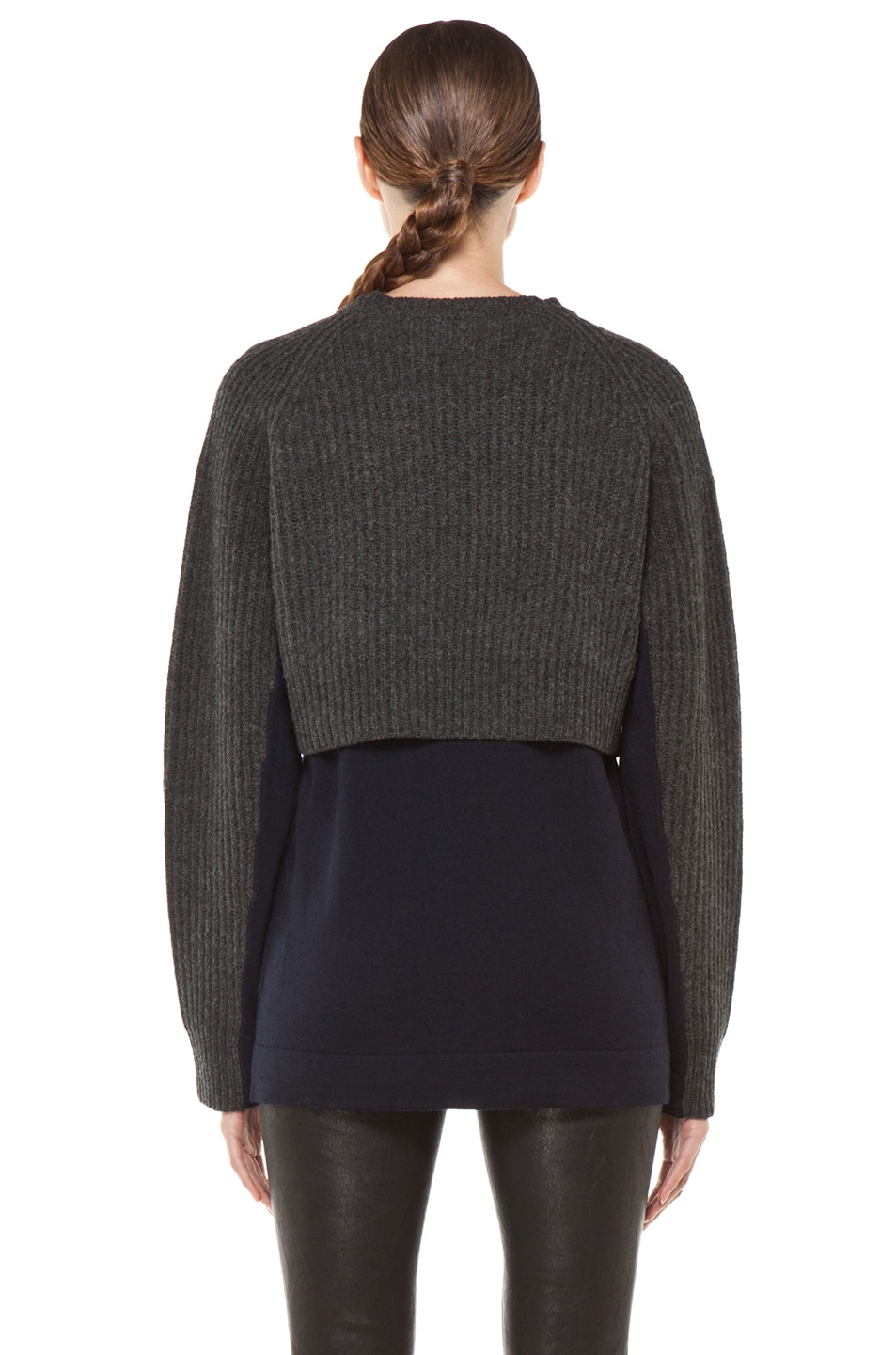 Image 4 of Acne Studios Hurst Knit Sweater in Grey Melange