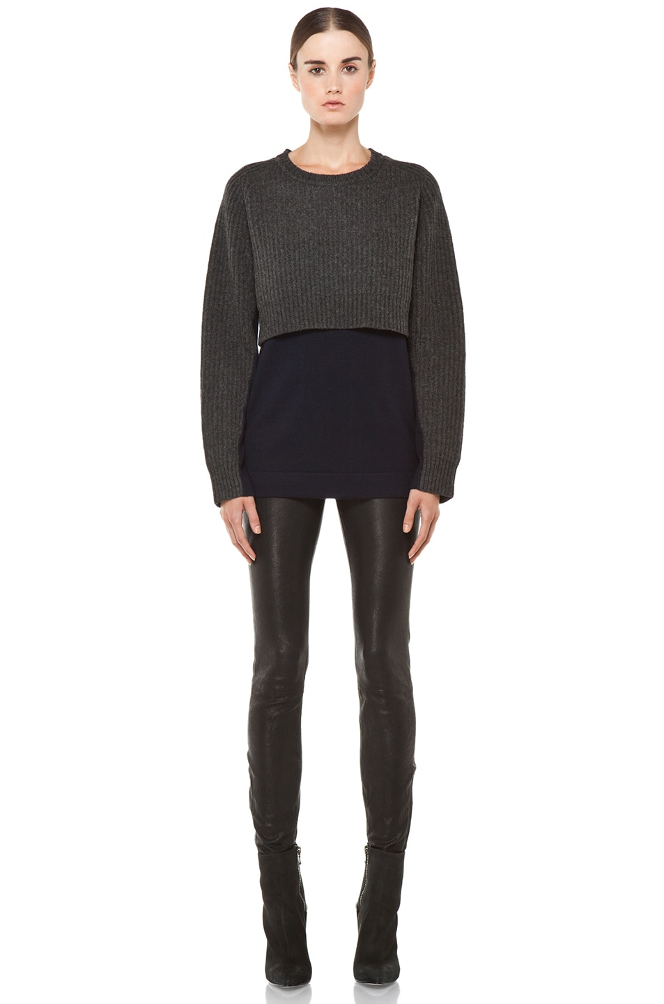 Image 5 of Acne Studios Hurst Knit Sweater in Grey Melange