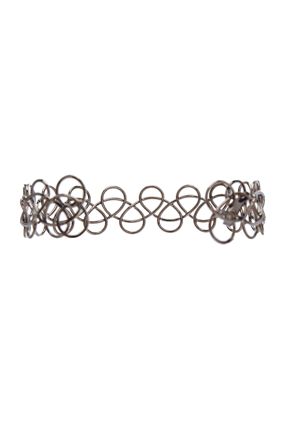 Image 2 of Acne Studios Fabi Small Necklace in Shiny Silver