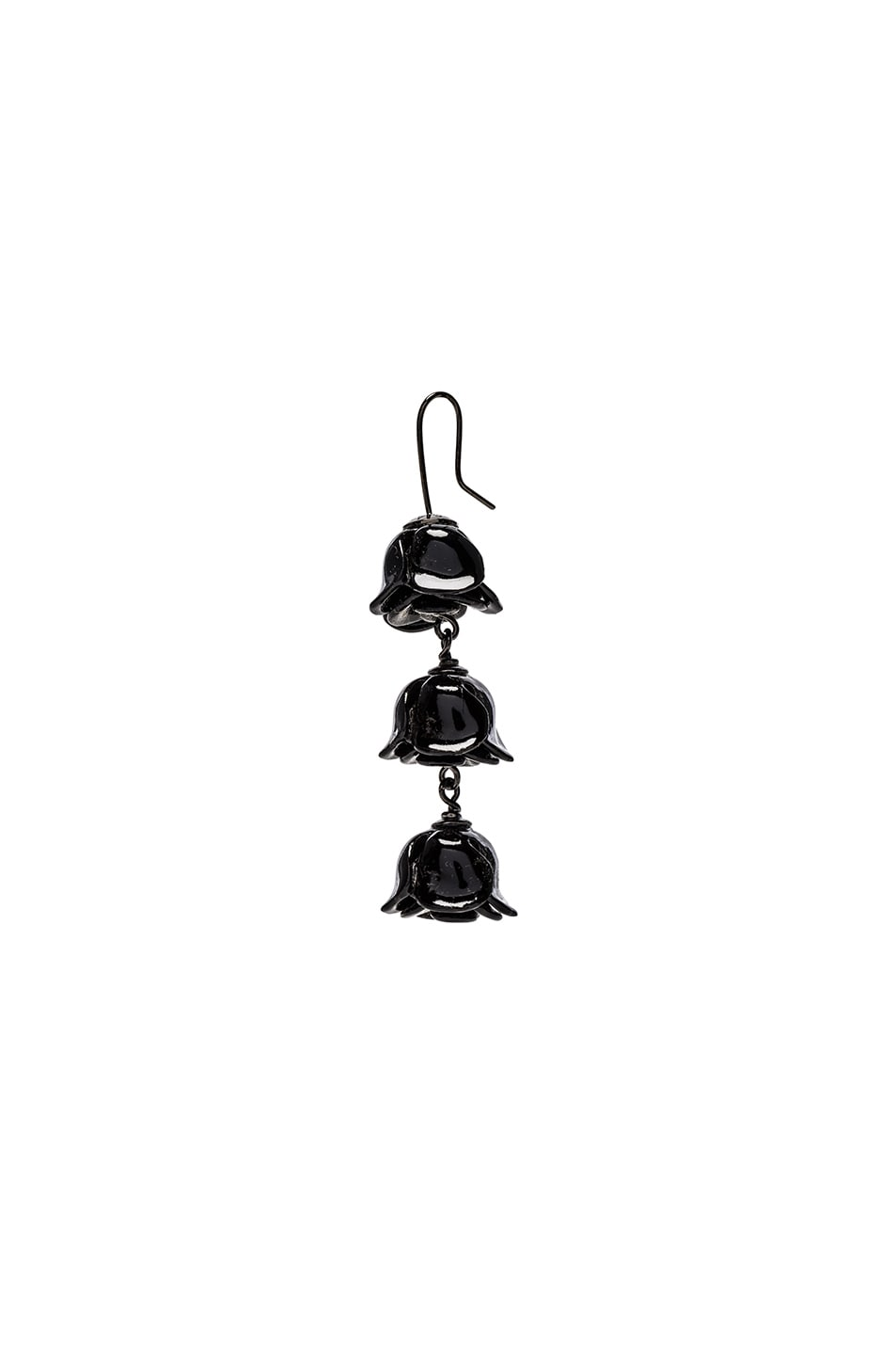 Image 2 of Acne Studios Connie Single Earring in Black
