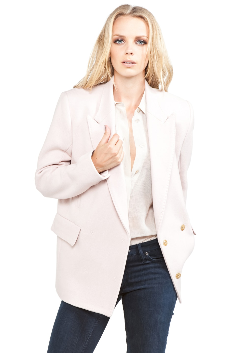 Image 1 of Acne Studios Simone Blazer in Blushed