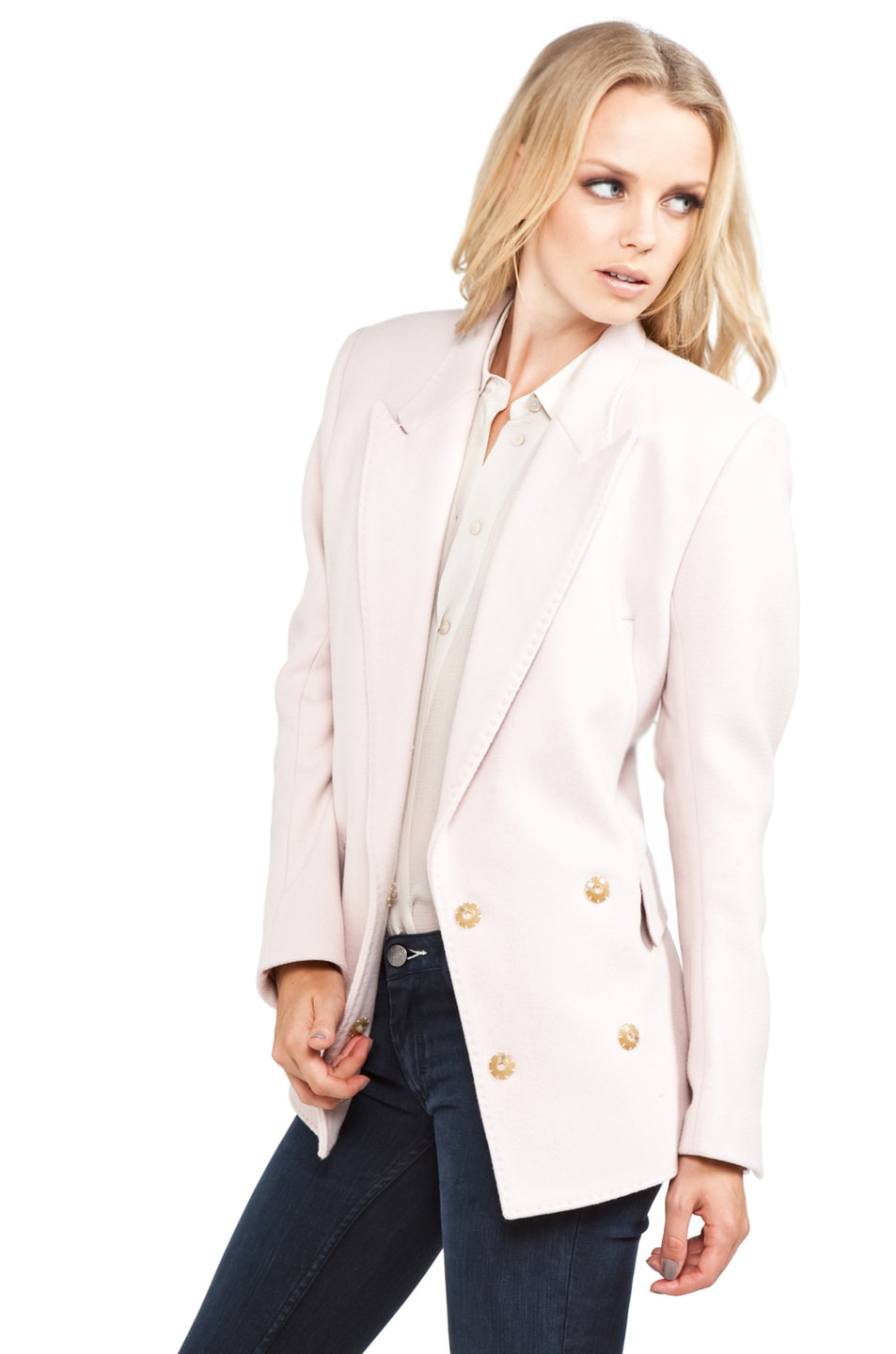 Image 2 of Acne Studios Simone Blazer in Blushed