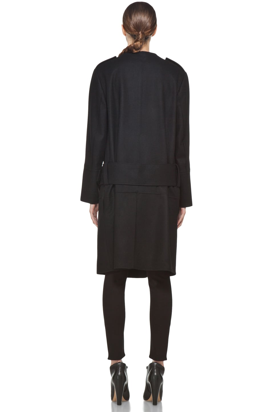 Image 5 of Acne Studios Cary Raw Coat in Black