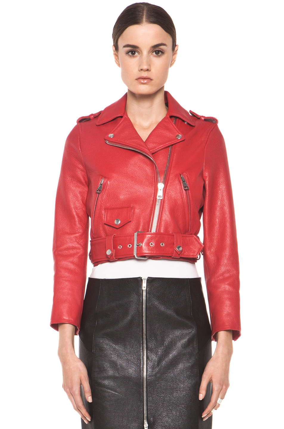 Image 2 of Acne Studios Mape Petite Jacket in Red