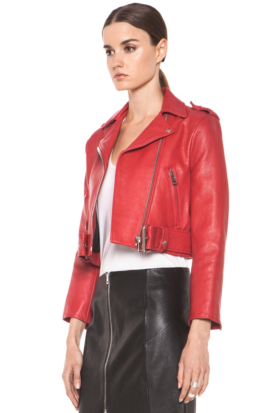 Image 3 of Acne Studios Mape Petite Jacket in Red