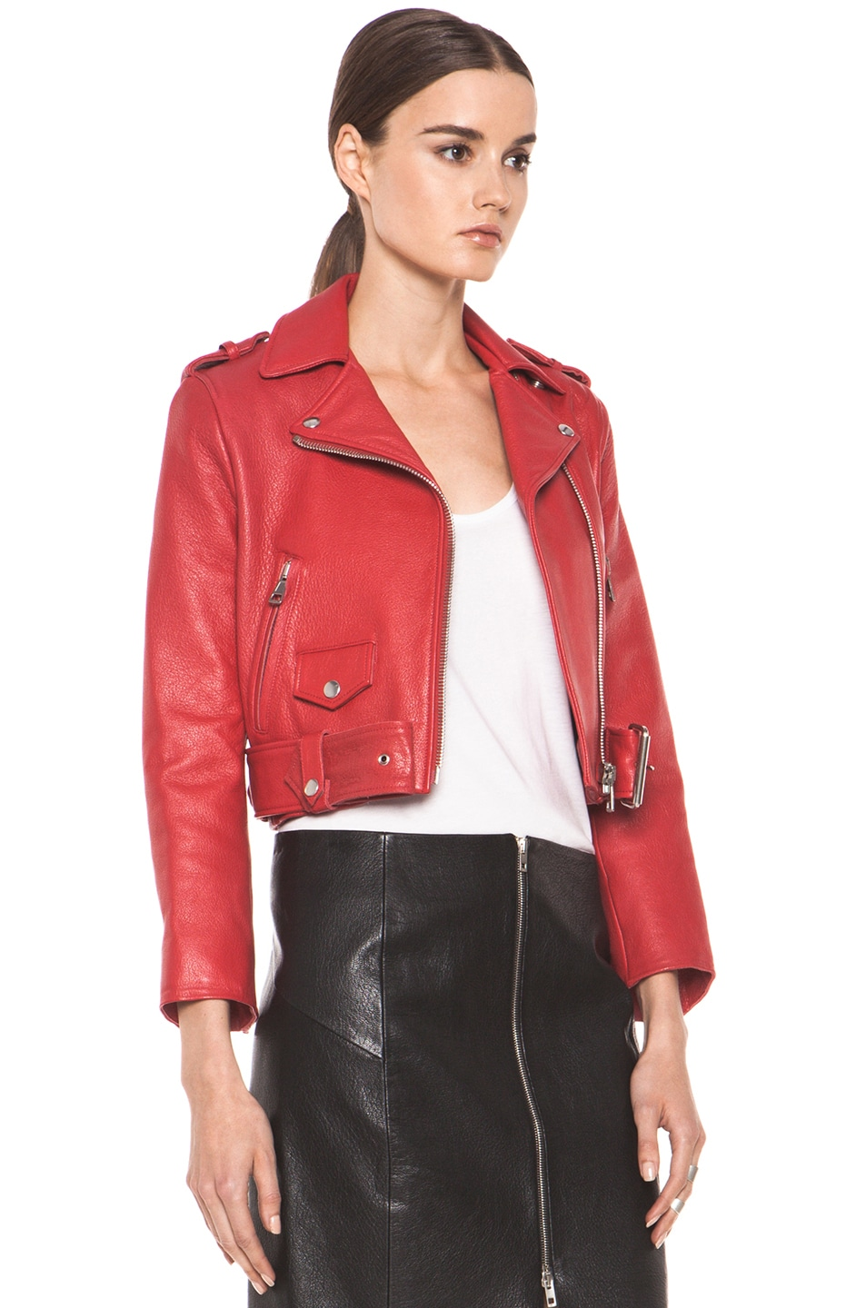 Image 4 of Acne Studios Mape Petite Jacket in Red