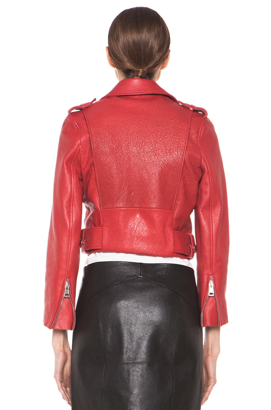 Image 5 of Acne Studios Mape Petite Jacket in Red