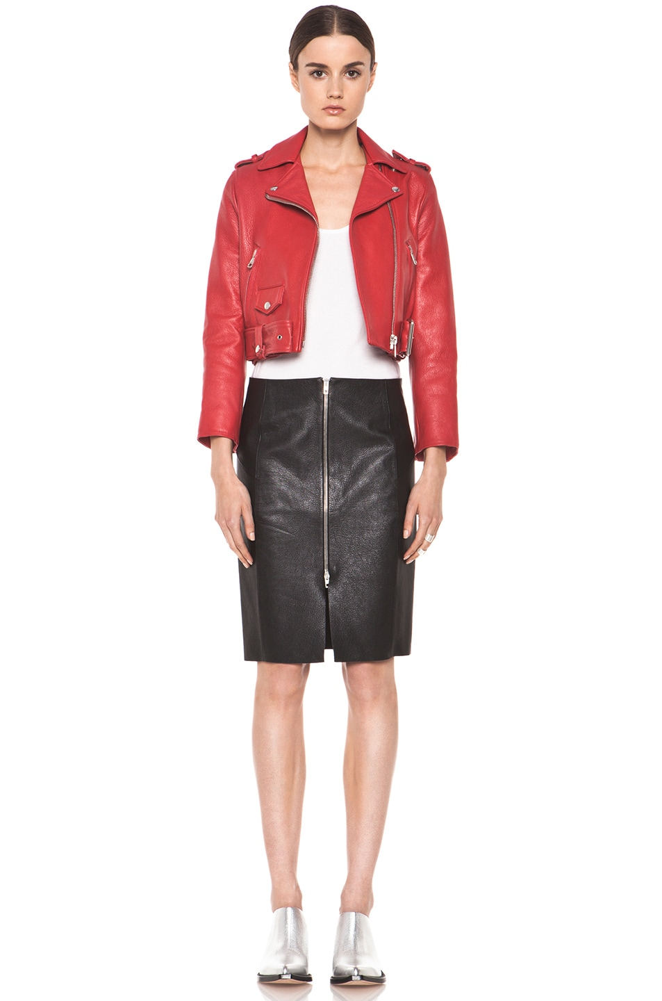 Image 6 of Acne Studios Mape Petite Jacket in Red