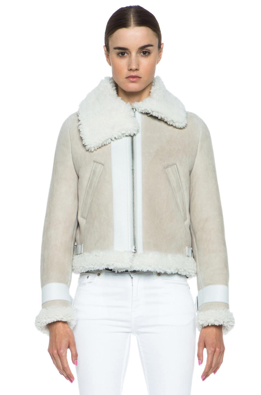 Acne Studios Vera Shearling Jacket in Natural White | FWRD