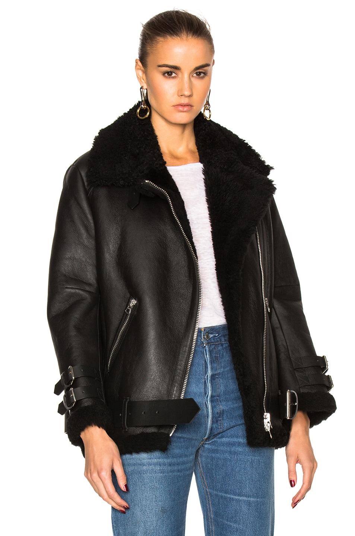 Image 1 of Acne Studios Velocite Leather Jacket in Black