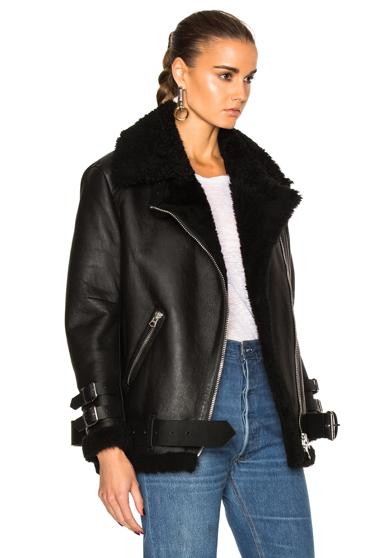 Image 4 of Acne Studios Velocite Leather Jacket in Black