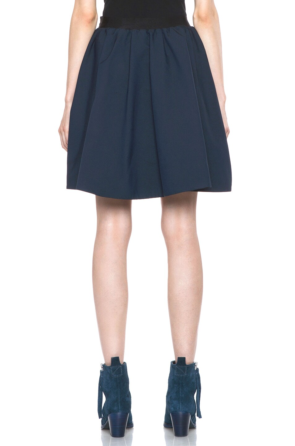Image 4 of Acne Studios Romantic Nylon Skirt in Midnight Blue