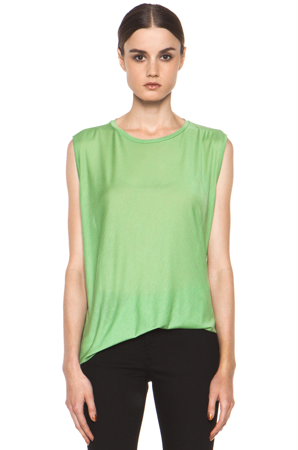 Image 1 of Acne Studios Chance Ten Tank in Money Green