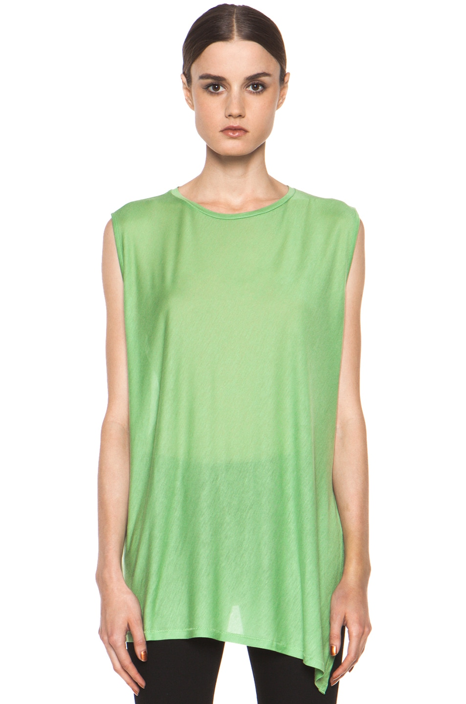 Image 2 of Acne Studios Chance Ten Tank in Money Green