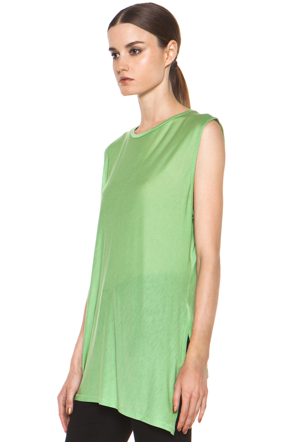 Image 3 of Acne Studios Chance Ten Tank in Money Green