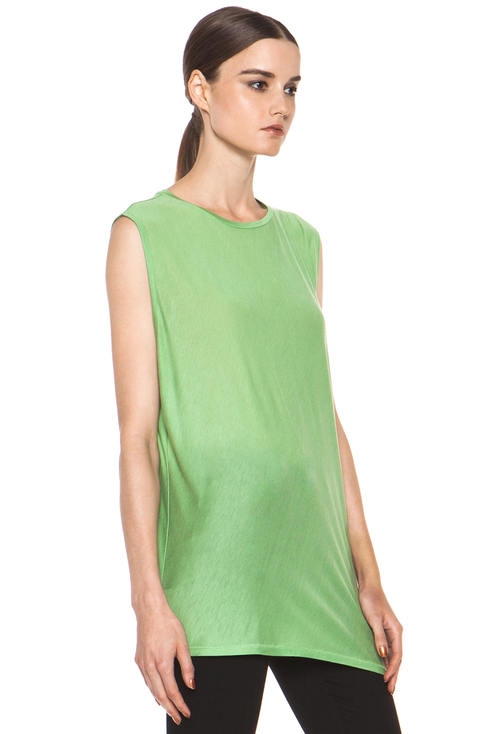 Image 4 of Acne Studios Chance Ten Tank in Money Green