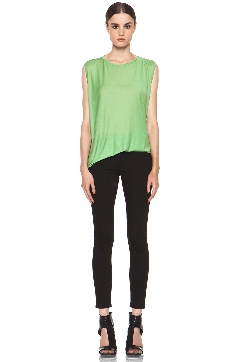 Image 6 of Acne Studios Chance Ten Tank in Money Green