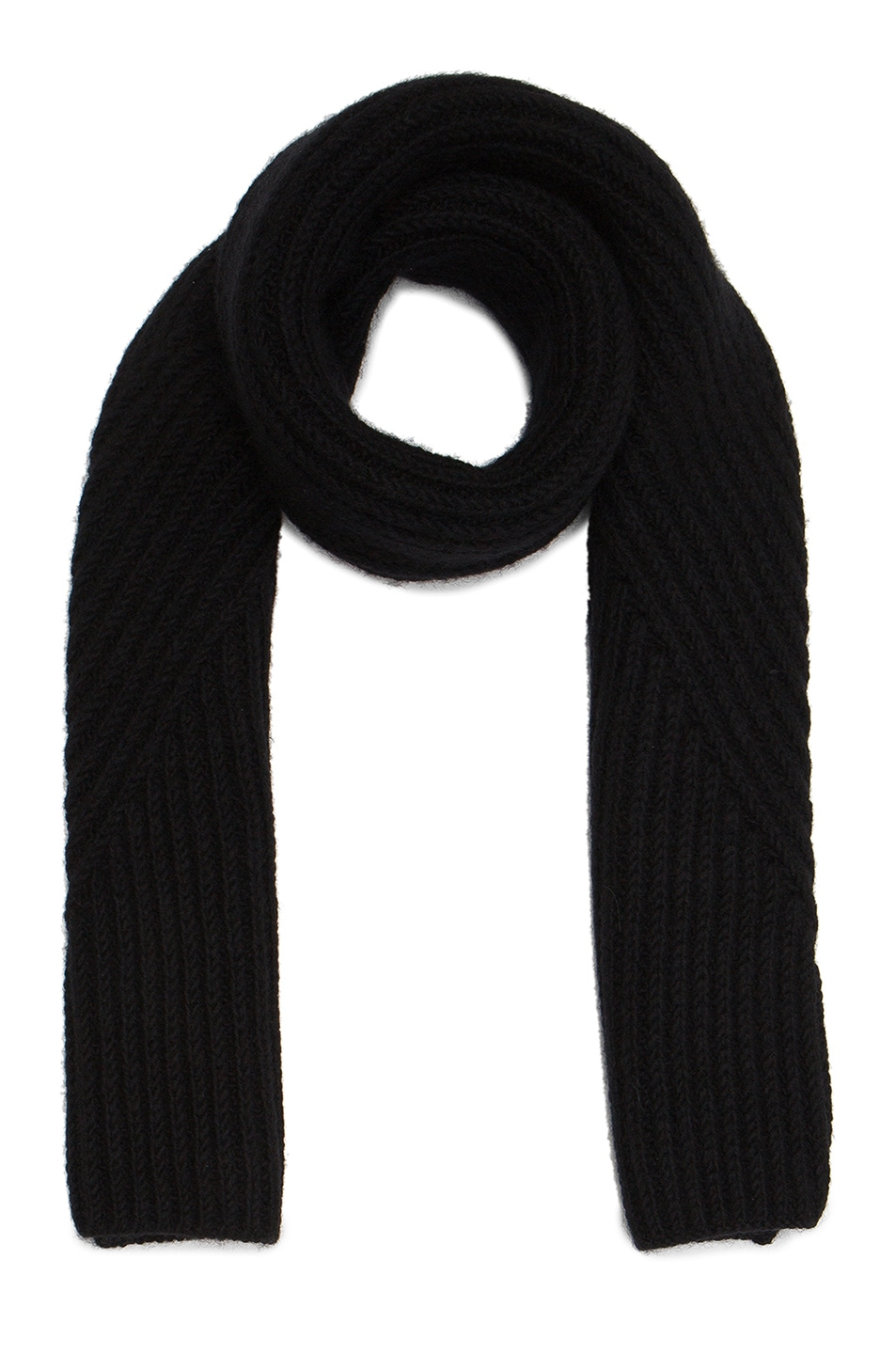 Image 1 of Acne Studios Hana Short Chunky Scarf in Black