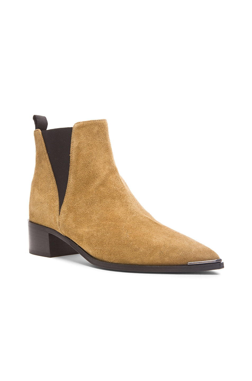 acne studios beige suede jensen ankle boots in neutrals. Black Bedroom Furniture Sets. Home Design Ideas