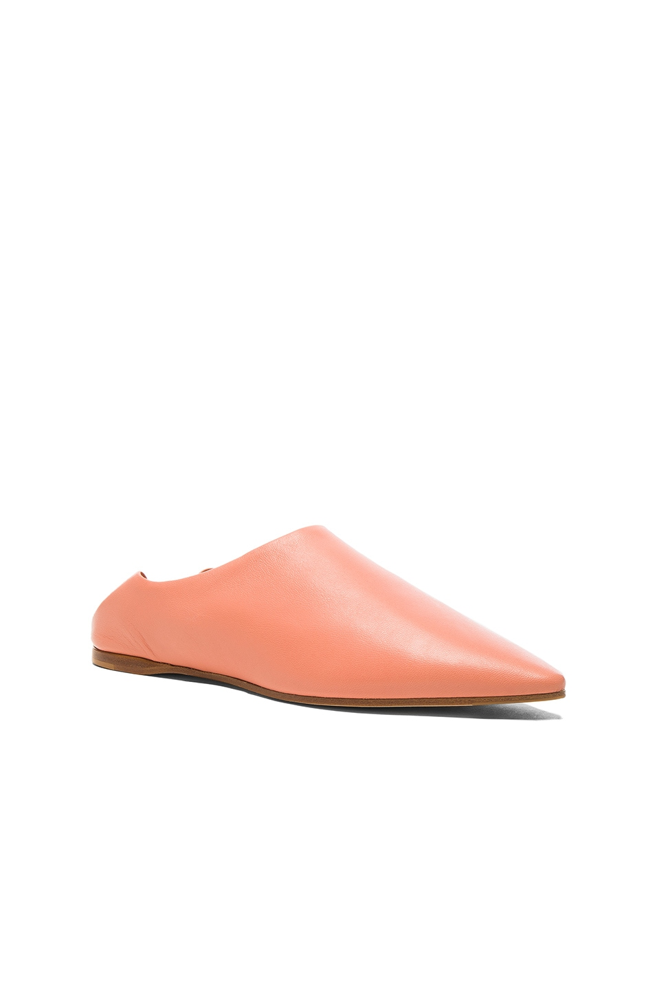 ACNE STUDIOS Leather Amina Babouche Slippers
