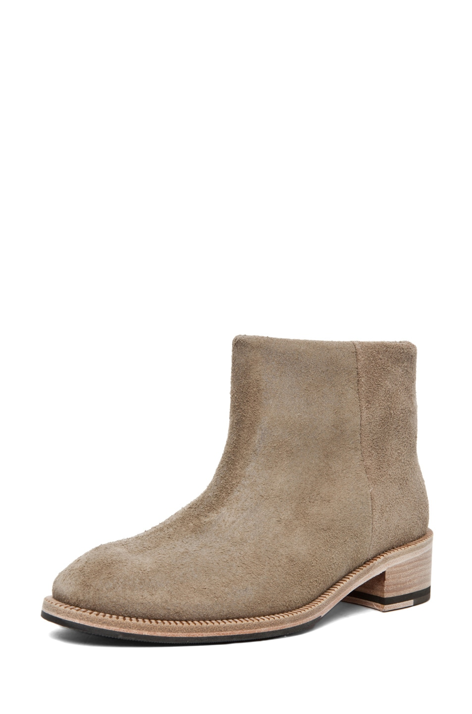 Image 2 of Acne Studios Paz Bootie in Dark Sand