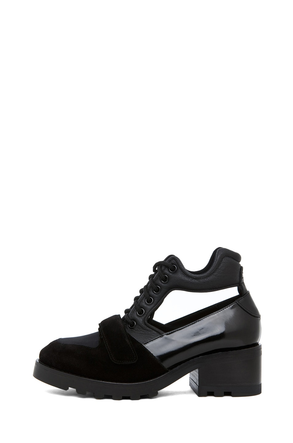 Image 1 of Acne Studios Jordan Cut Out Oxford in Black