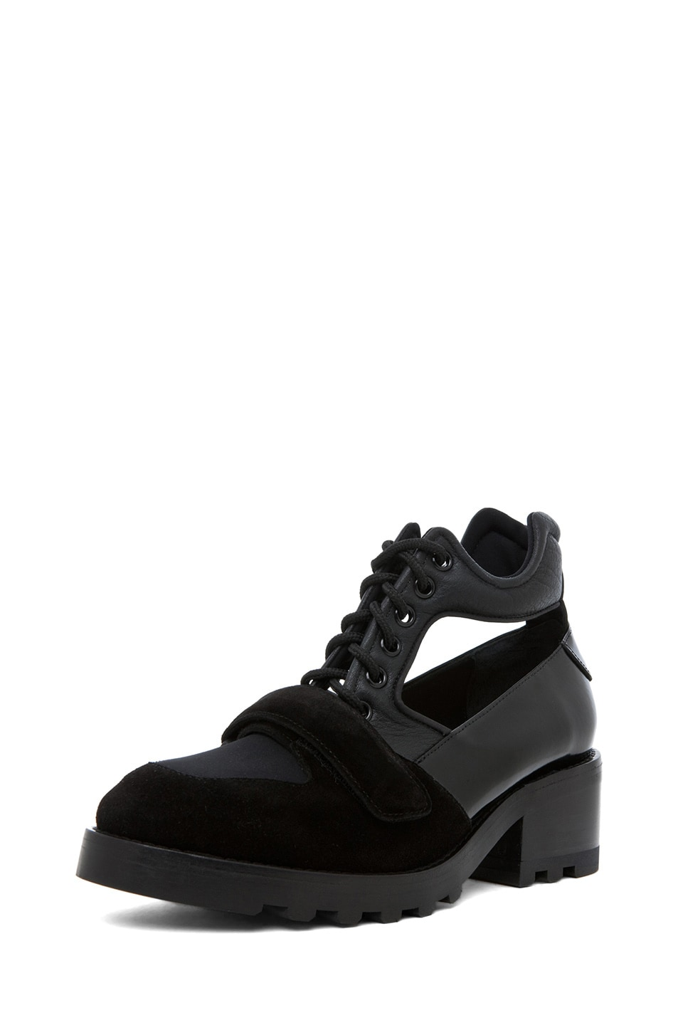 Image 2 of Acne Studios Jordan Cut Out Oxford in Black