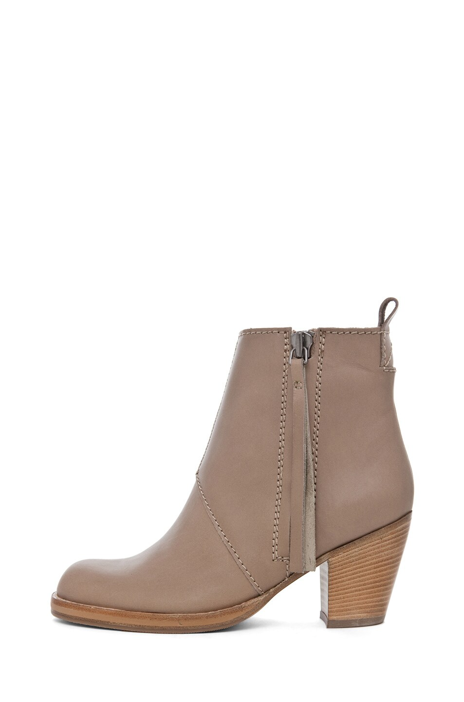 Image 1 of Acne Studios Pistol Leather Bootie in Coffee