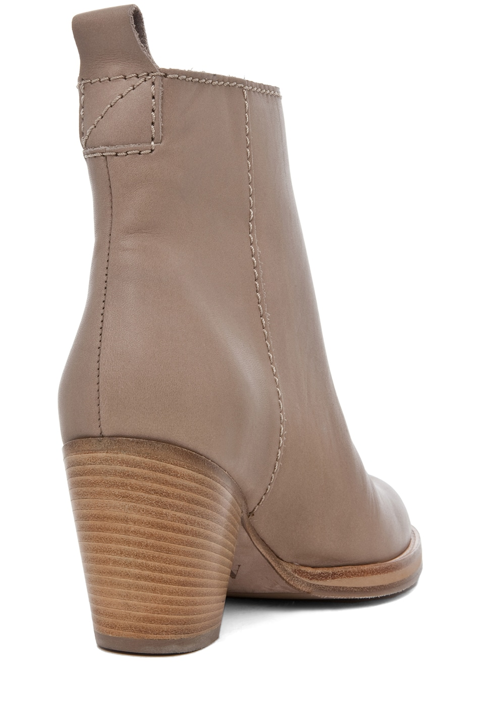 Image 3 of Acne Studios Pistol Leather Bootie in Coffee