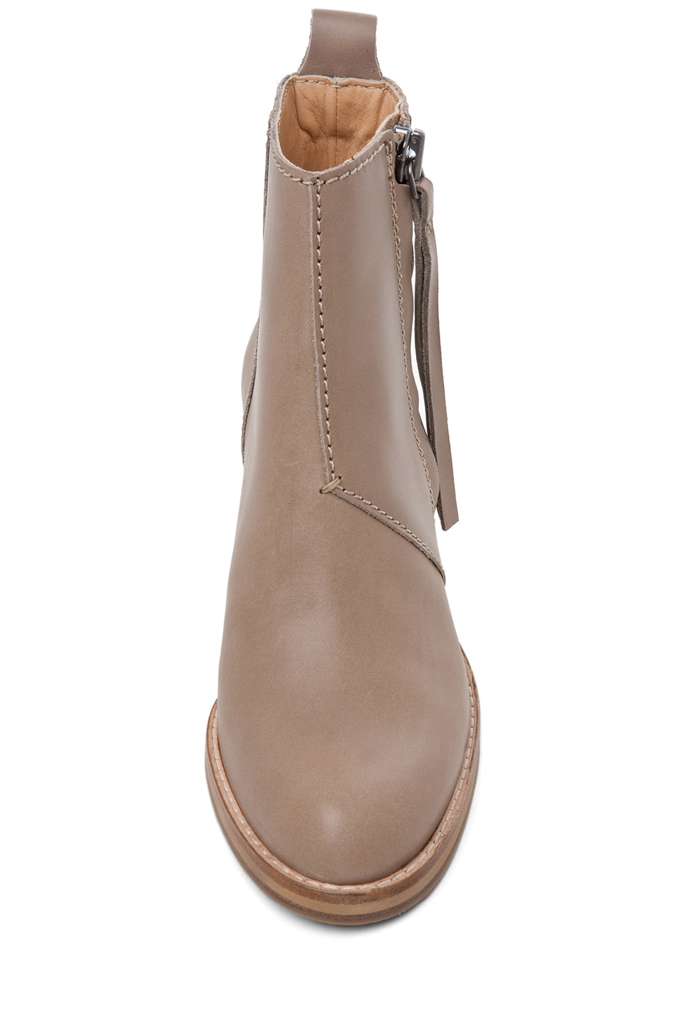 Image 4 of Acne Studios Pistol Leather Bootie in Coffee
