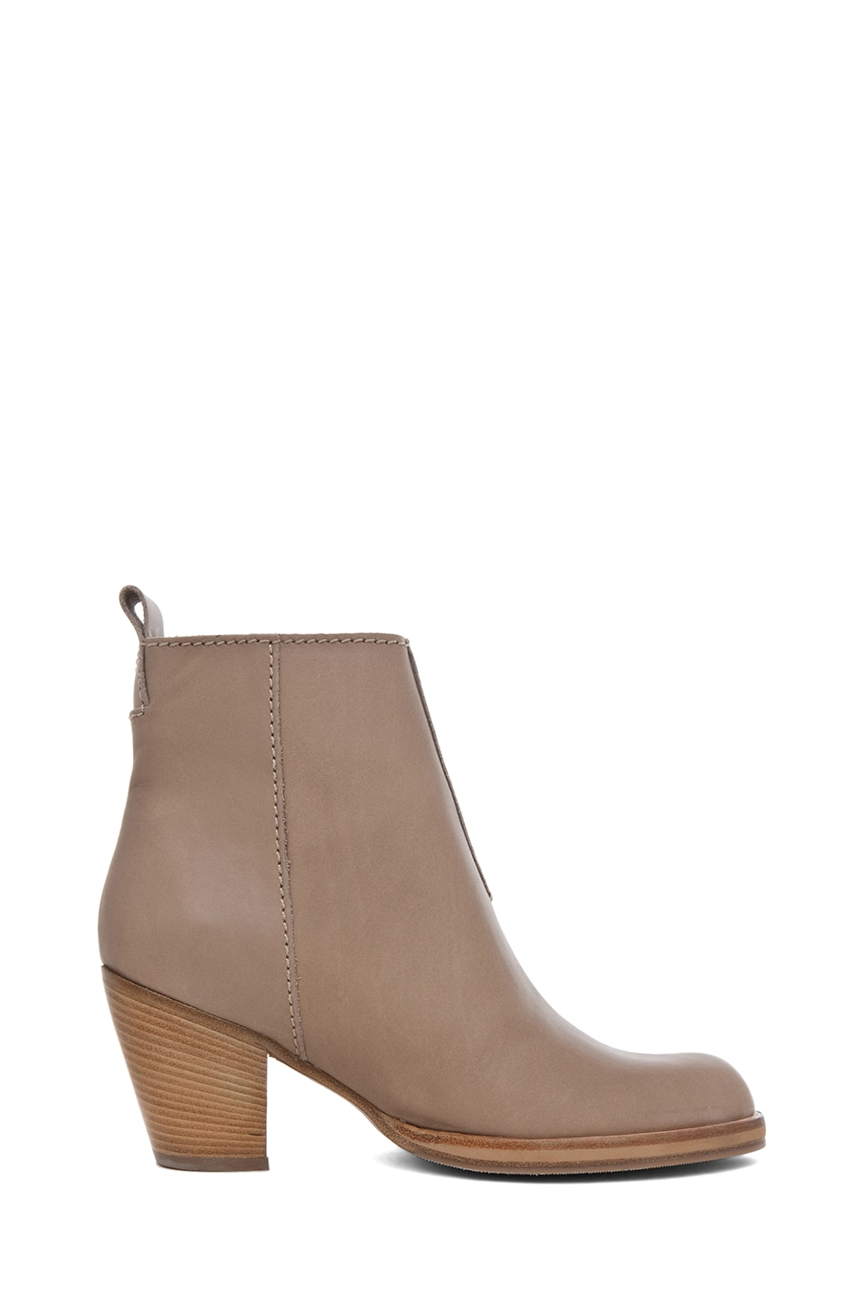 Image 5 of Acne Studios Pistol Leather Bootie in Coffee