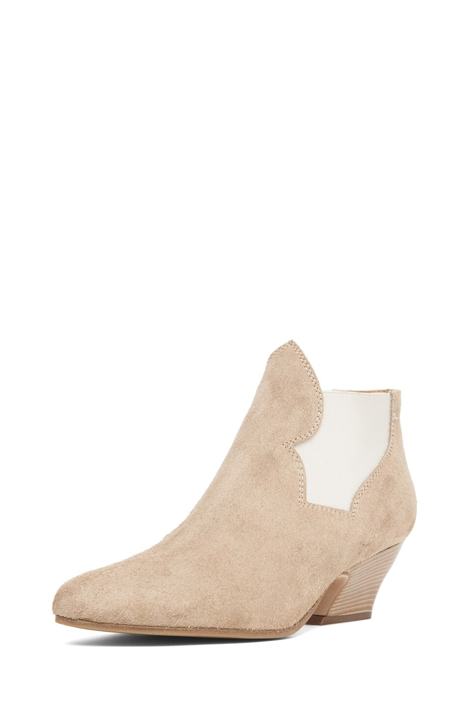 Image 2 of Acne Studios Alma Suede Bootie in Taupe