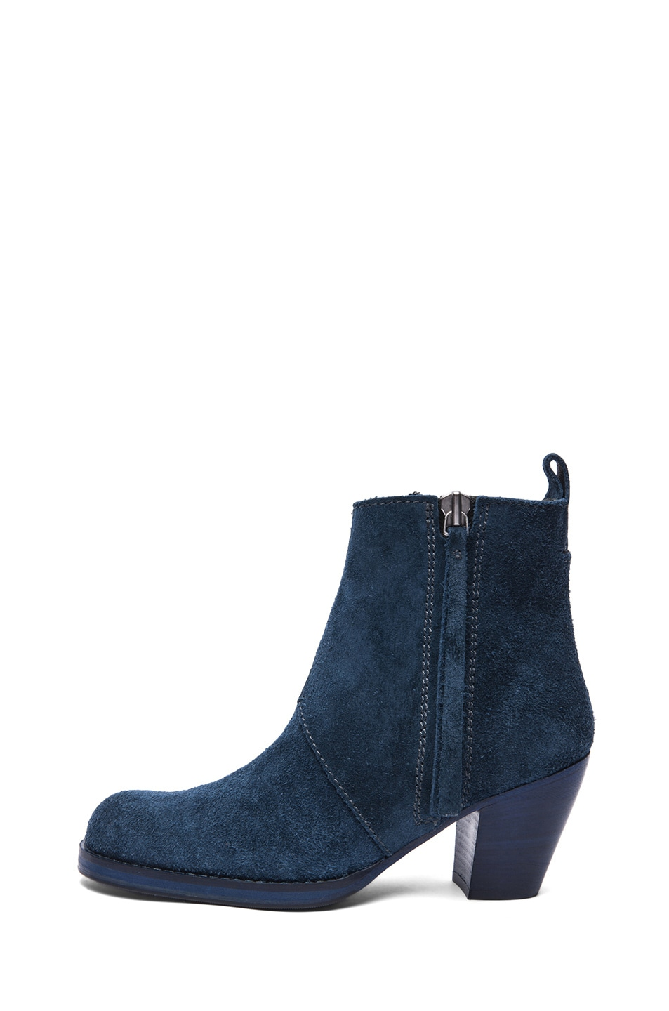 Image 1 of Acne Studios Pistol Suede Booties in Navy