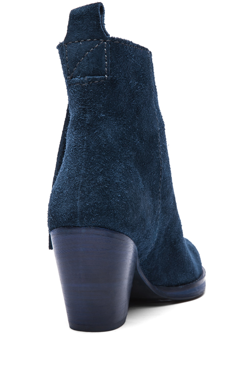 Image 3 of Acne Studios Pistol Suede Booties in Navy
