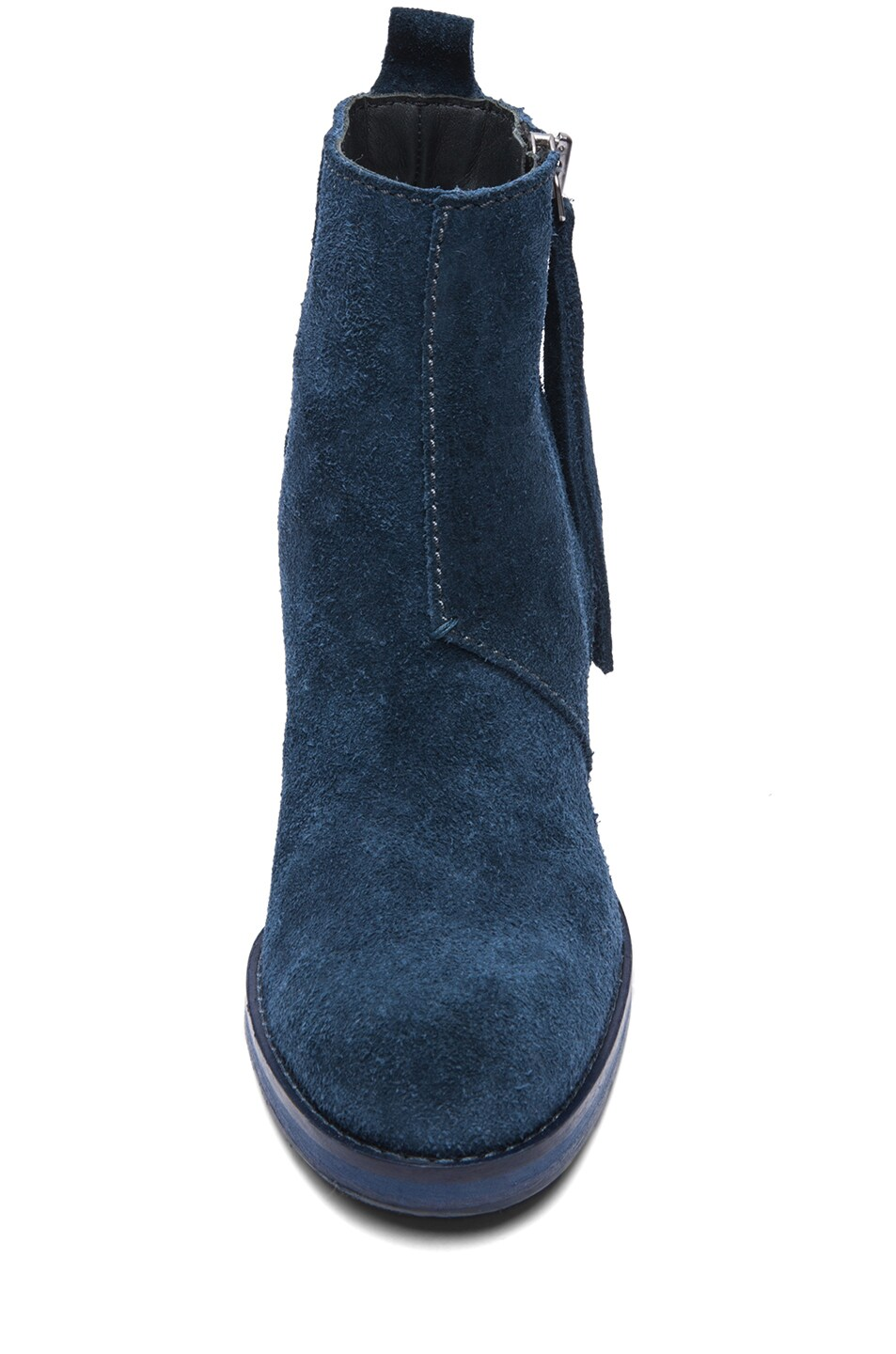 Image 4 of Acne Studios Pistol Suede Booties in Navy